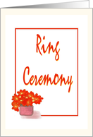 You're Invited-Ring Ceremony-Graphic Design-Flower card