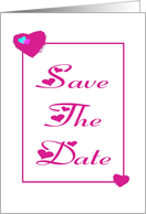 Save The Date-Engagement Party-Red Hearts card