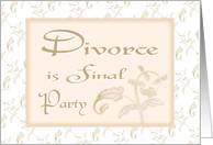 Divorce Is Final-Party Invititaion-Leaf Design card