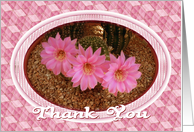 Thank You For Coming To My Party-Flowers-Cactus-Digital Design card