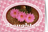 Congratulations-For Daughter-Pink Cactus Flower card