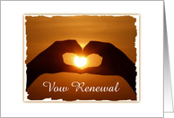 Together Forever-Vow Remewal-Sunset-Heart Shaped Hands-Capturing Sunset, card