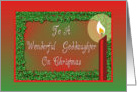 Christmas-Candle-Holly-Red-Green-For Goddaughter card