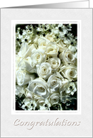 Congratulations On Your Vow Renewal-Elegant White Roses Bouquet card