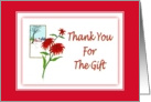 Thank You-For The Gift-Christmas-Poinsettia-Christmas Flower-Plant card