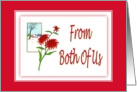 Christmas-From Both Of Us-Poinsettia-Christmas Flower-Plant card