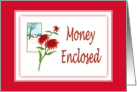 Money Enclosed-Poinsettia-Christmas Flower-Plant card