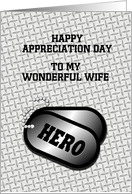 Military Appreciation Day-For Spouse-DogTags-Customizable Card