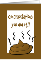 Congratulations-On Your Post Operation Poop-Humor card