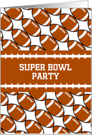 Super Bowl Party Invitation with Footballs-Custom Card