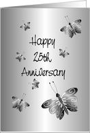 Happy 25th Anniversary Card Butterflies card