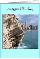 A 85th Birthday Card - Coastline card