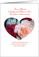Brother Wedding Annerversary Card - Roses card