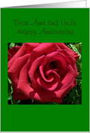 Aunt and Uncle Wedding Anniversary Card - Rose card