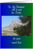 Husband Easter Card - Mountain card