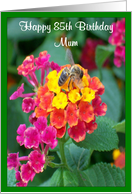 Mum 85th Birthday Card - Bee On Lantana card