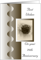 70th Wedding Anniversary Card - Antique Rose card