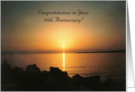 70th Wedding Anniversary Card - Sunset Over The Sea card