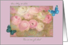 Wedding Anniversary custom name pastel floral card
