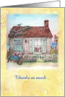thank you, lighthouse beach cottage card