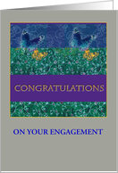 for Daughter illustrated congrats on engagement card