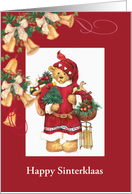 sinterklaas illustrated santa bear custom front card