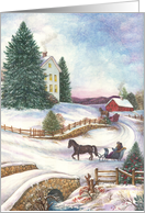 Winter Wonderland Traditional Holiday Landscape card