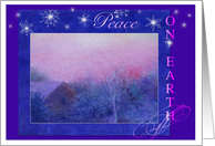 Peace On Earth Business Thank You card