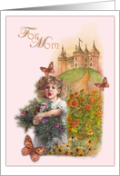 Magical Castle Sunflower Get Well For Mom card