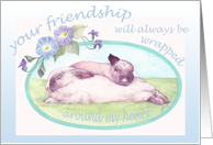 Sleepy Bunnies Lovely Wife Birthday card