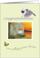 congratulations, sale of house & garden illustrated card