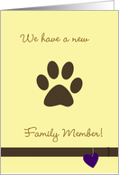 New Family Pet card
