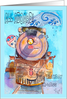 Steampunk Art railroad card