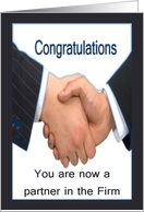Congratulations promotion to partner in Law Firm card