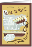 Announcement for DADDY to be, expecting a baby card