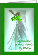 Congratulations to a St. Patrick's Day Wedding card