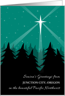 Oregon Season's Greetings Christmas from Pacific Northwest Add City card