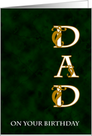 Dad Green Marble Birthday card