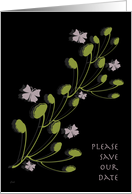 Ginkgo Save the Date card