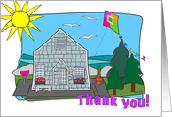 Beach Cottage Thank You card