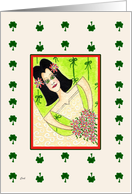 ACEO Irish Bride card