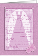 Wedding Scrapbook Be My Bridesmaid? card