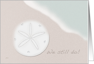 Wedding Vow Renewal Invitations Beach Sand Dollar card