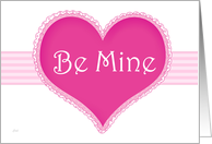 Marriage Proposal Valentine Pink Heart card