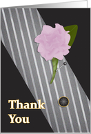 Groomsman Thank You Menswear card