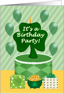 St. Patrick's Birthday Party Invitation card