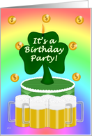 St. Patrick's Adult Birthday Invitation card