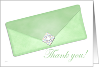 Green Clutch Thank You card