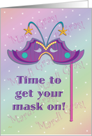 Mardi Gras Party Invitations Mask card