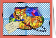 Crazy Cat Purse Birthday Sister-in-Law card